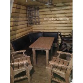 """Столовый комплект под старину из массива дерева """"Любозар"""""""