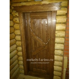 """Дверь под старину из массива дерева """"Бабура"""""""