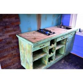 """Кухня под старину из массива дерева """"Немира"""""""