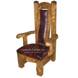 """Кресло под старину из массива дерева """"Борейко"""""""