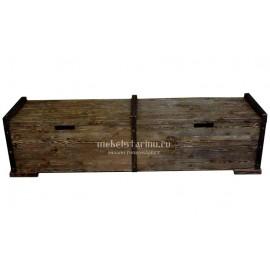 """Сундук-скамья под старину из массива дерева """"Гостидраг"""""""