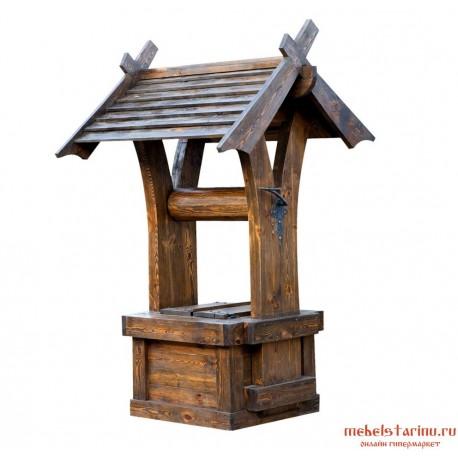 """Декоративный колодец под старину из массива дерева """"Ратмир"""""""