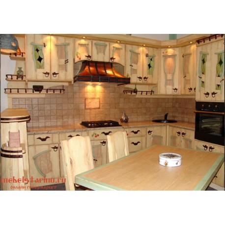 """Кухня под старину из массива дерева """"Горислава"""""""