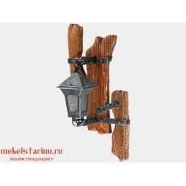 """Светильник бра под старину из массива дерева """"Добролюб"""""""