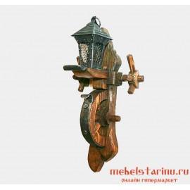 """Светильник бра под старину из массива дерева """"Домаш"""""""