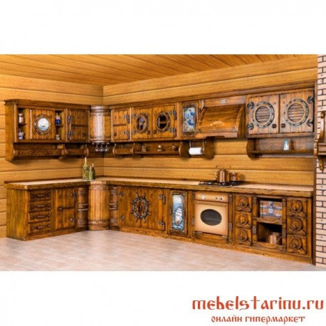 """Кухня под старину из массива дерева """"Истома"""""""