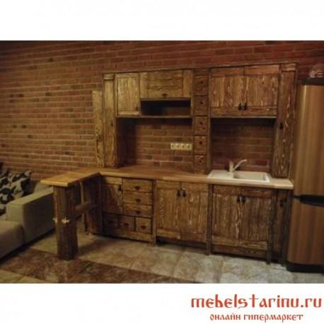 """Кухня под старину из массива дерева """"Людмила"""""""