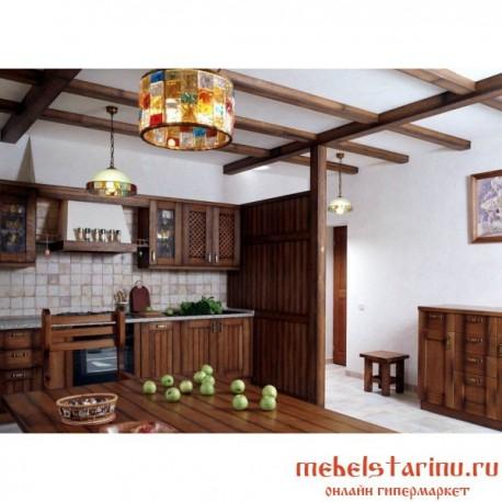 """Кухня под старину из массива дерева """"Милада"""""""