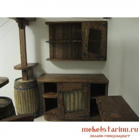 """Кухня под старину из массива дерева """"Милица"""""""