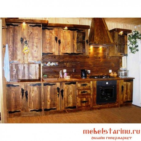 """Кухня под старину из массива дерева """"Милослава"""""""