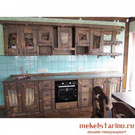 """Кухня под старину из массива дерева """"Надежда"""""""