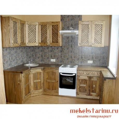 """Кухня под старину из массива дерева """"Путята"""""""
