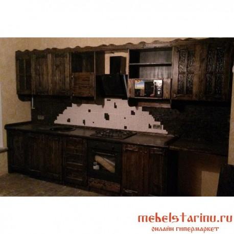 """Кухня под старину из массива дерева """"Радимира"""""""