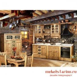 """Кухня под старину из массива дерева """"Радосвета"""""""