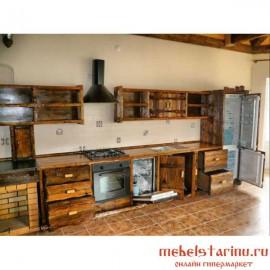 """Кухня под старину из массива дерева """"Радость"""""""