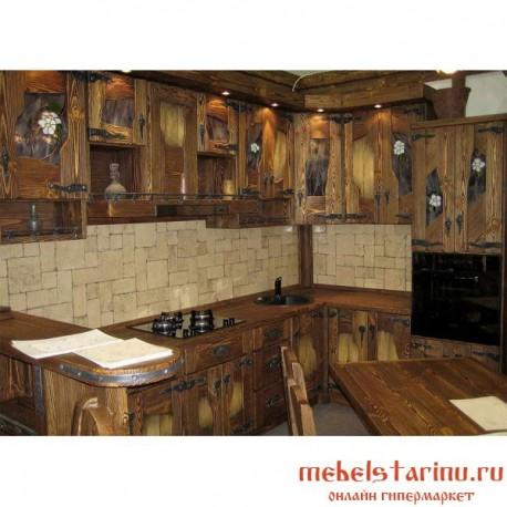 """Кухня под старину из массива дерева """"Ростислава"""""""