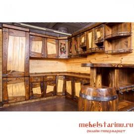 """Кухня под старину из массива дерева """"Сбыслава"""""""