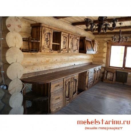 """Кухня под старину из массива дерева """"Светислава"""""""