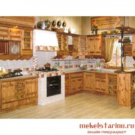 """Кухня под старину из массива дерева """"Светлана"""""""