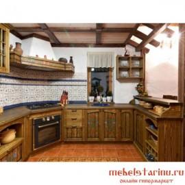 """Кухня под старину из массива дерева """"Светозара"""""""