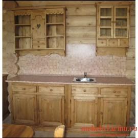 """Кухня под старину из массива дерева """"Святоша"""""""