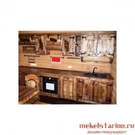 """Кухня под старину из массива дерева """"Святослава"""""""