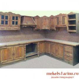 """Кухня под старину из массива дерева """"Часлава"""""""