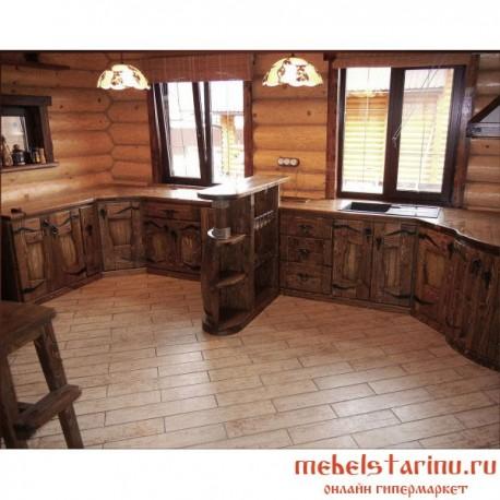 """Кухня под старину из массива дерева """"Млада"""""""
