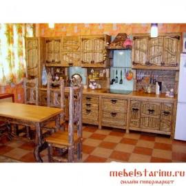 """Кухня под старину из массива дерева """"Малуша"""""""