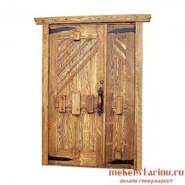 """Дверь под старину из массива дерева """"Кожемяка"""""""