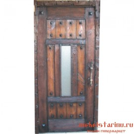 """Дверь под старину из массива дерева """"Борислава"""""""