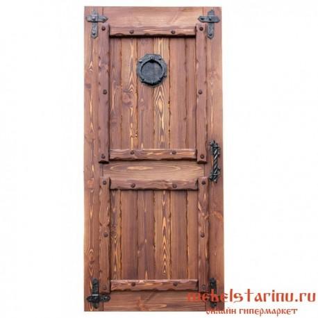 """Дверь под старину из массива дерева """"Вела"""""""