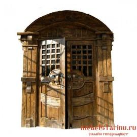 """Дверь под старину из массива дерева """"Вера"""""""