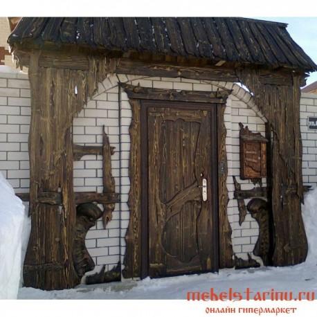 """Дверь под старину из массива дерева """"Веселина"""""""