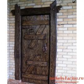 """Дверь под старину из массива дерева """"Всеслава"""""""