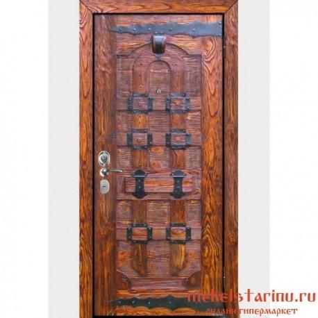 """Дверь под старину из массива дерева """"Доброслава"""""""