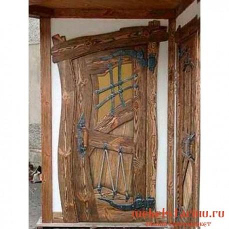 """Дверь под старину из массива дерева """"Дубыня"""""""