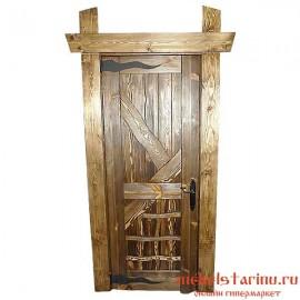 """Дверь под старину из массива дерева """"Дружина"""""""