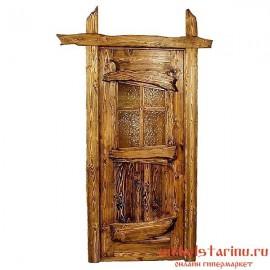 """Дверь под старину из массива дерева """"Злата"""""""