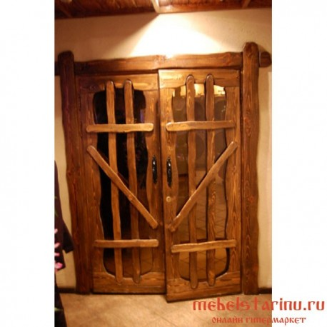 """Дверь под старину из массива дерева """"Любовь"""""""