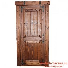 """Дверь под старину из массива дерева """"Малуша"""""""