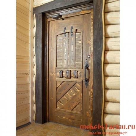 """Дверь под старину из массива дерева """"Надежа"""""""