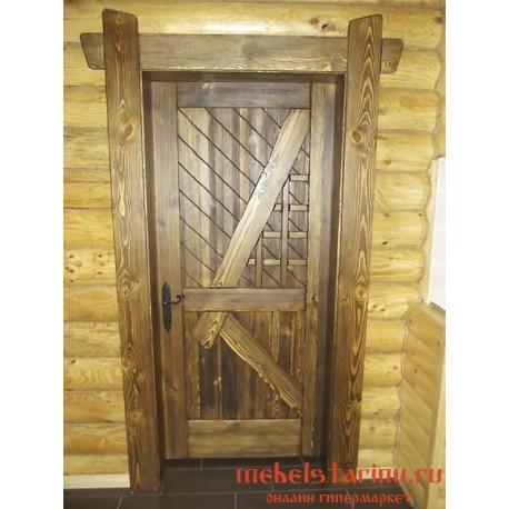 """Дверь под старину из массива дерева """"Драгомира"""""""