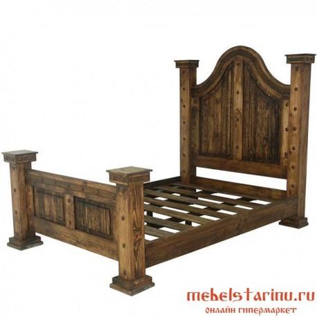 """Кровать под старину из массива дерева """"Агидель"""""""