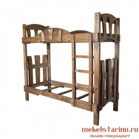 """Кровать под старину из массива дерева """"Агнеша"""""""