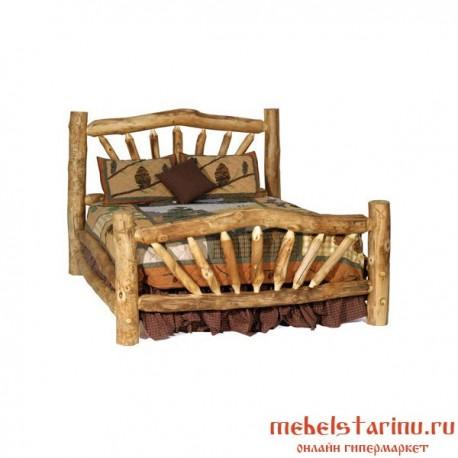 """Кровать под старину из массива дерева """"Аделя"""""""