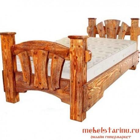 """Кровать под старину из массива дерева """"Алевтина"""""""