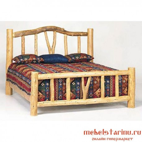 """Кровать под старину из массива дерева """"Анастасия"""""""