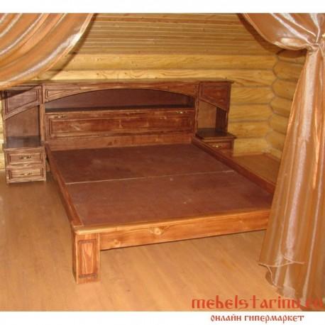 """Кровать под старину из массива дерева """"Ангелия"""""""