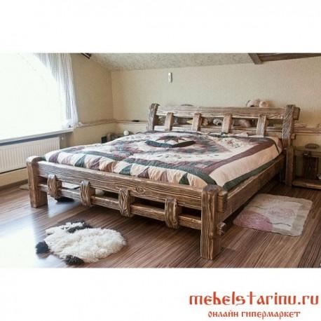 """Кровать под старину из массива дерева """"Белава"""""""